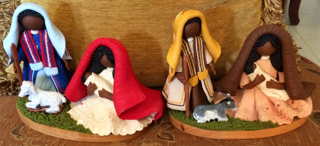 Two nativity sets