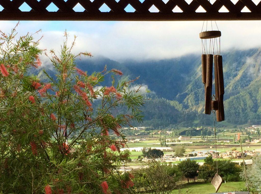 Constanza Valley from the breakfast table at Altocerras Villas