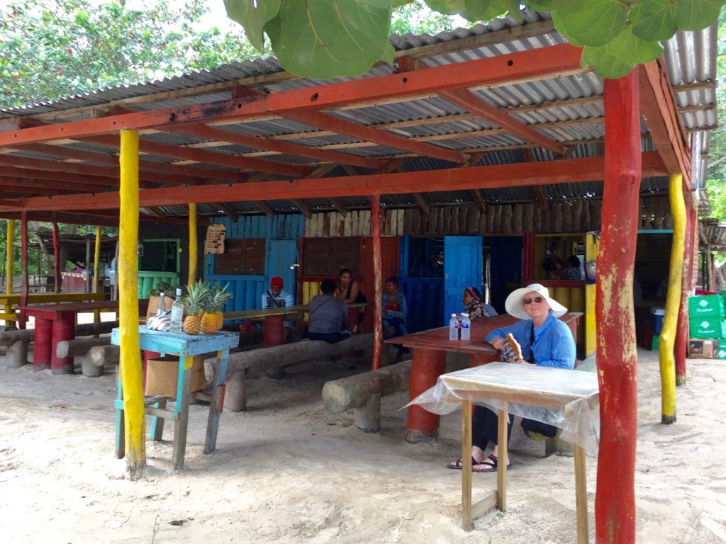 Cafe on the left beach