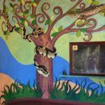 Strange tree-of-life mural