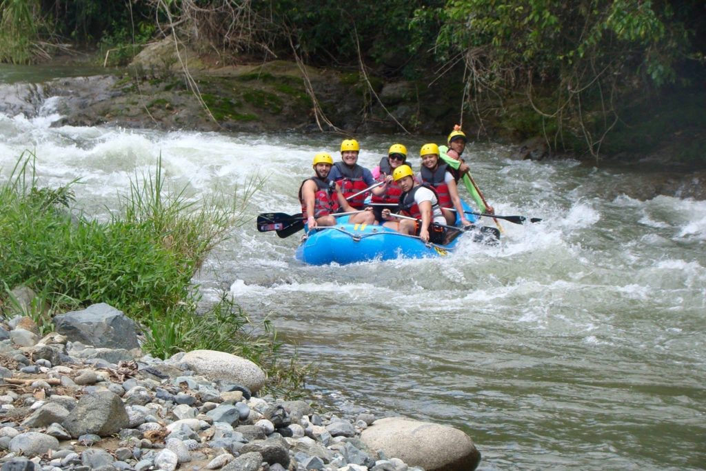 Rapids above us now