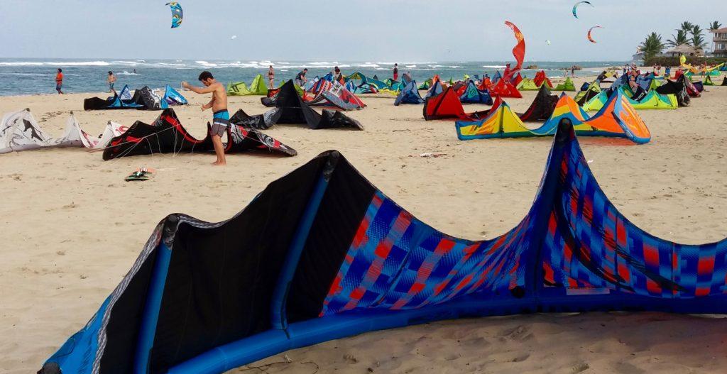 Cabarete kites coming in
