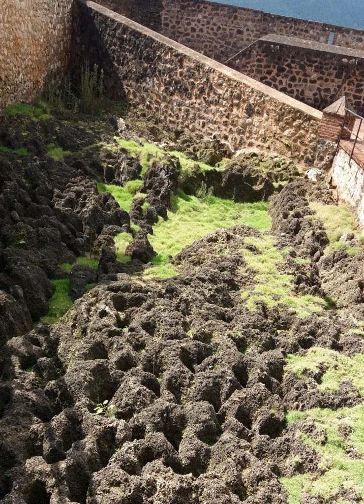 Rocky moat at Fort San Felipe