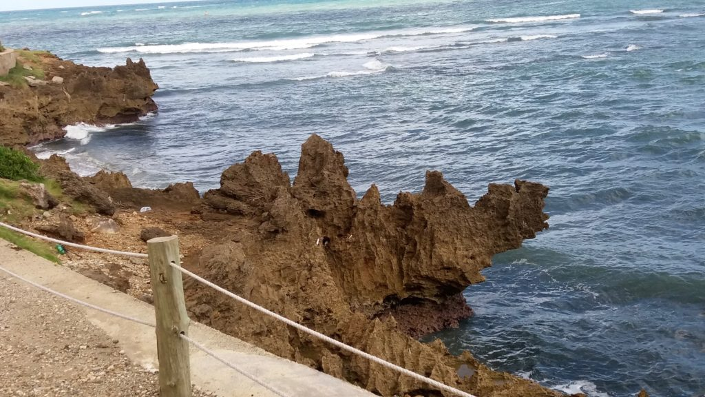 Shoreline below Fort San Felipe
