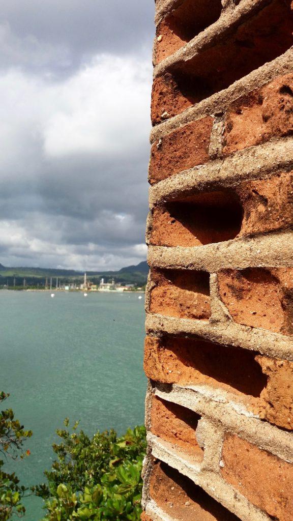 Weathering of the bricks