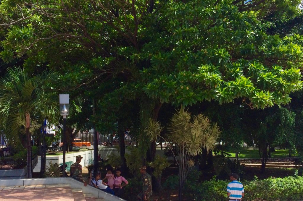 Visitors at Parque Independencia