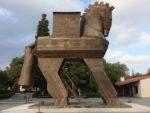 Artist Izzet Senemoglu's Trojan horse 1975