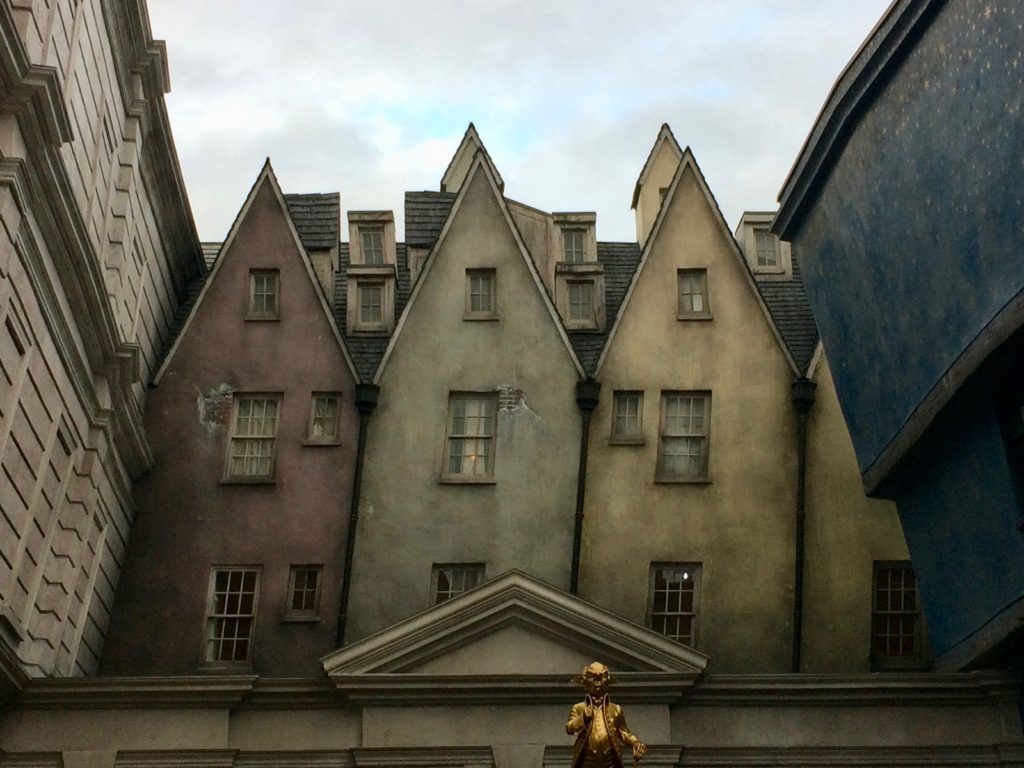 Aged buildings at Harry Potter World