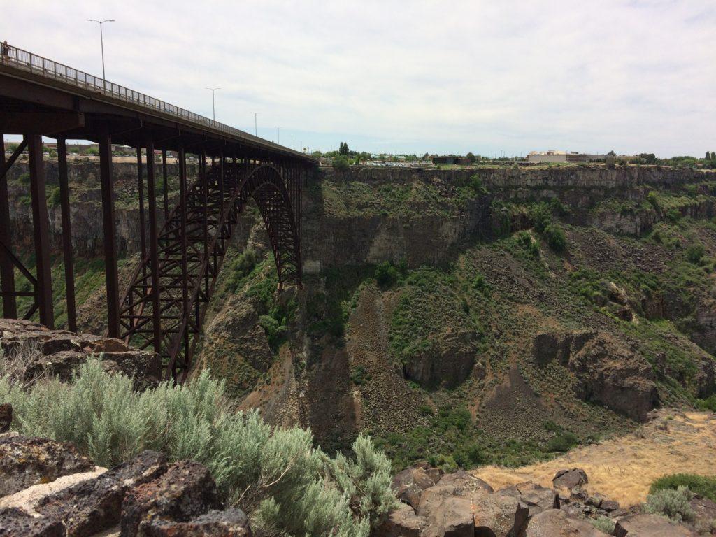 Twin Falls gorge and iron bridge