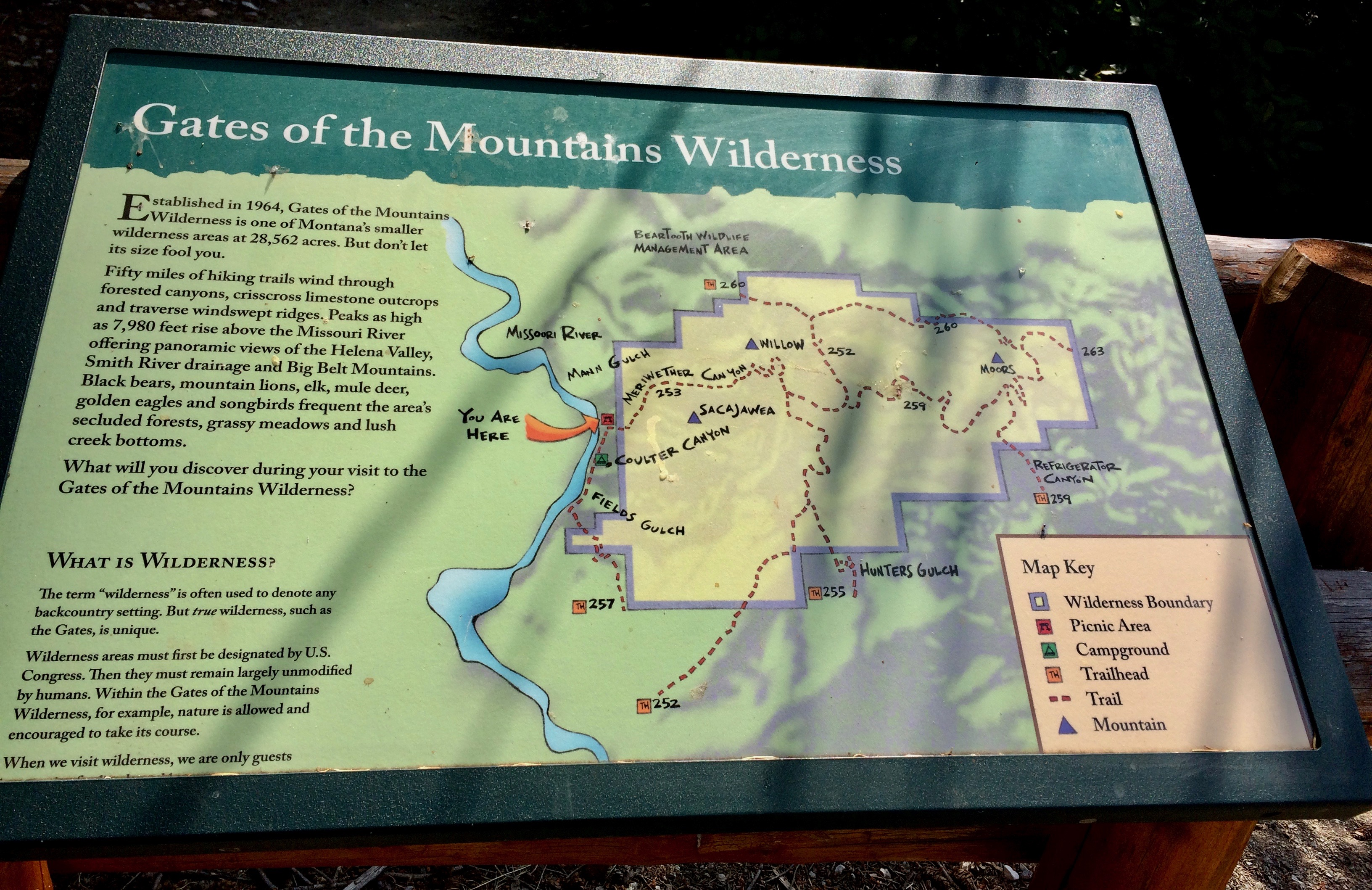 Gates of the Mountains Wilderness area
