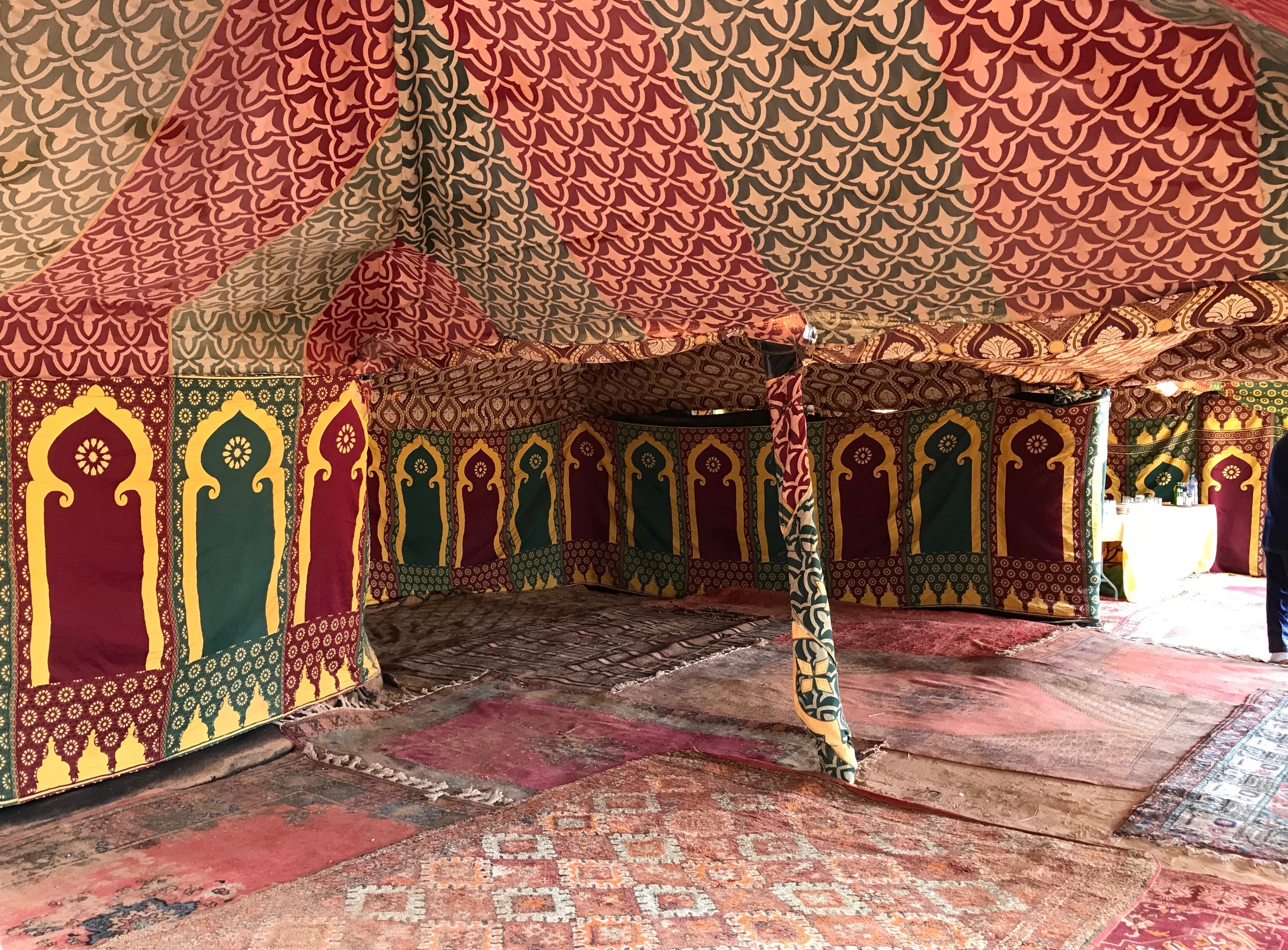 Moroccan tent for desert picnic
