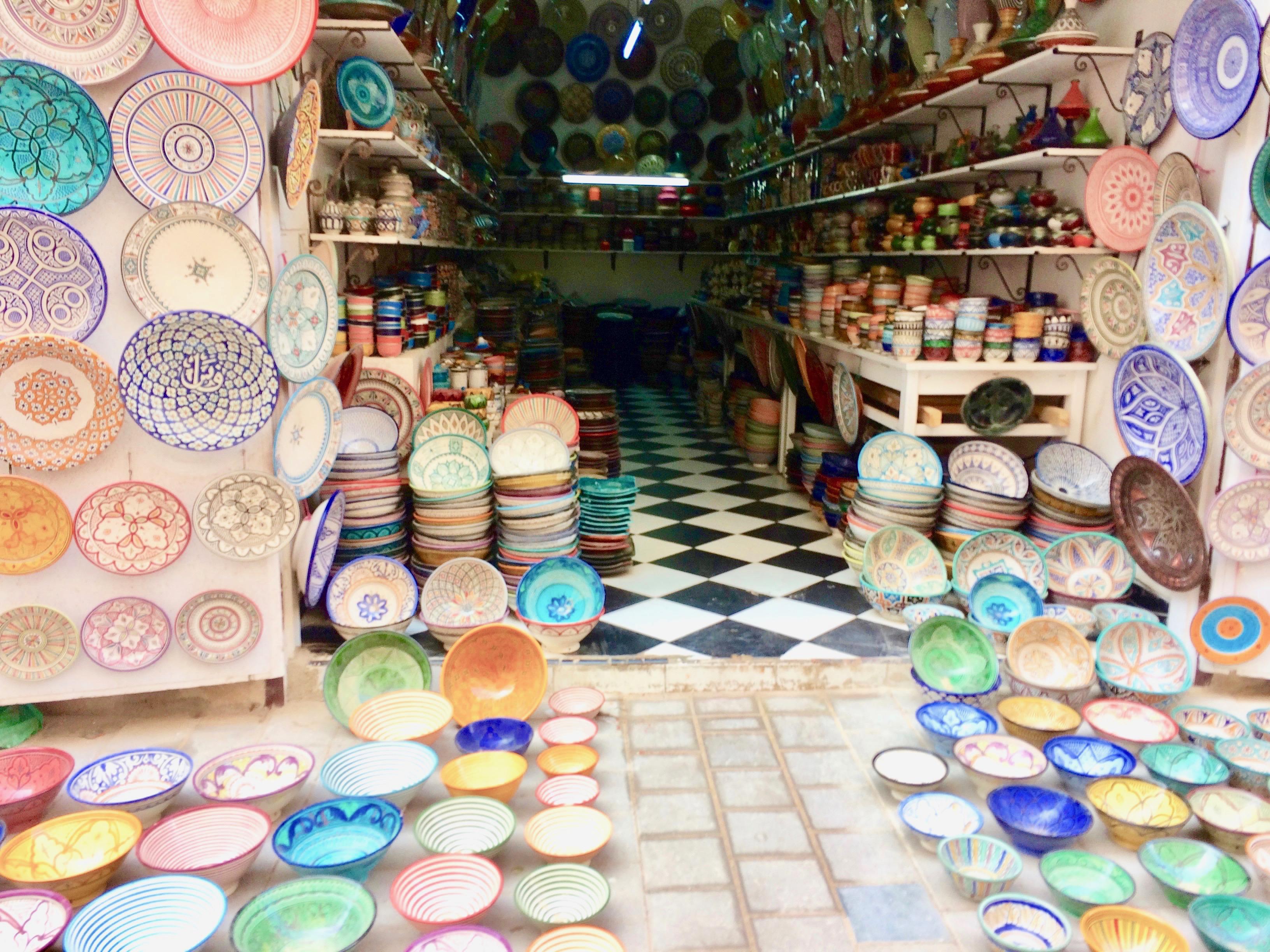 Pottery souk in Essaouira