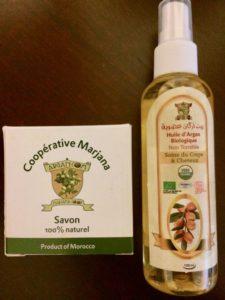 Argan oil and facial soap