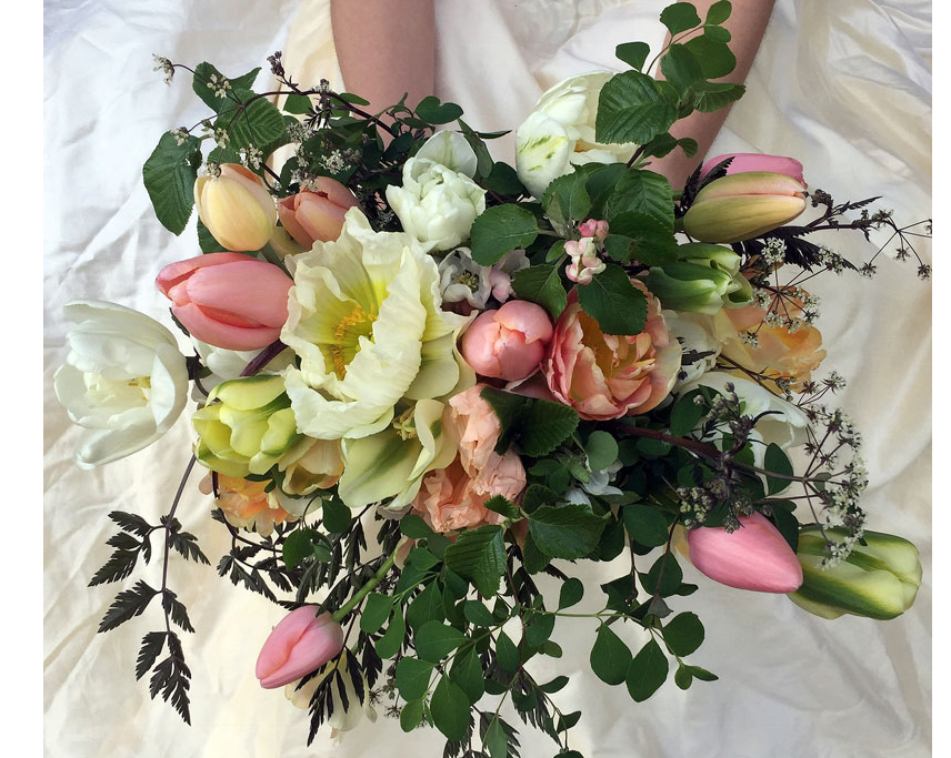 bridal bouquet with poppy