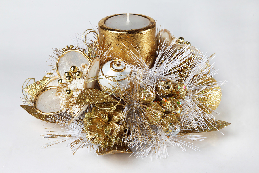Guilded Illuminations - Decorating Candles in Metallics