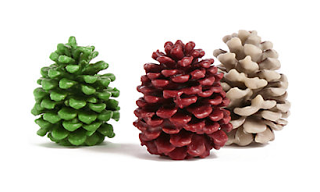 Winter Snow and Pine Cones - Making Whipped and Dipped Candles