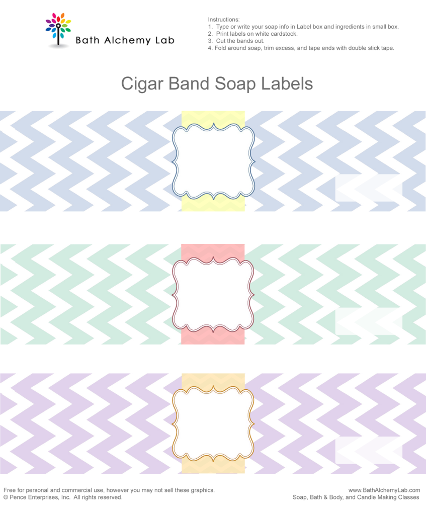 Free Chevron Cigar Soap Labels