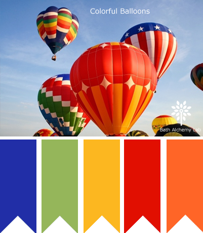 Color Palette Inspiration - Colorful Balloons