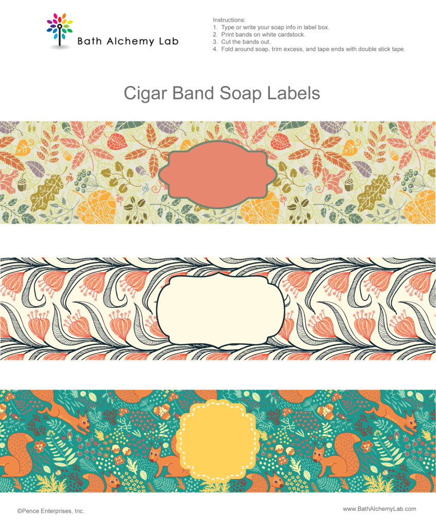Free Soap Cigar Band Wrappers - Fall Designs