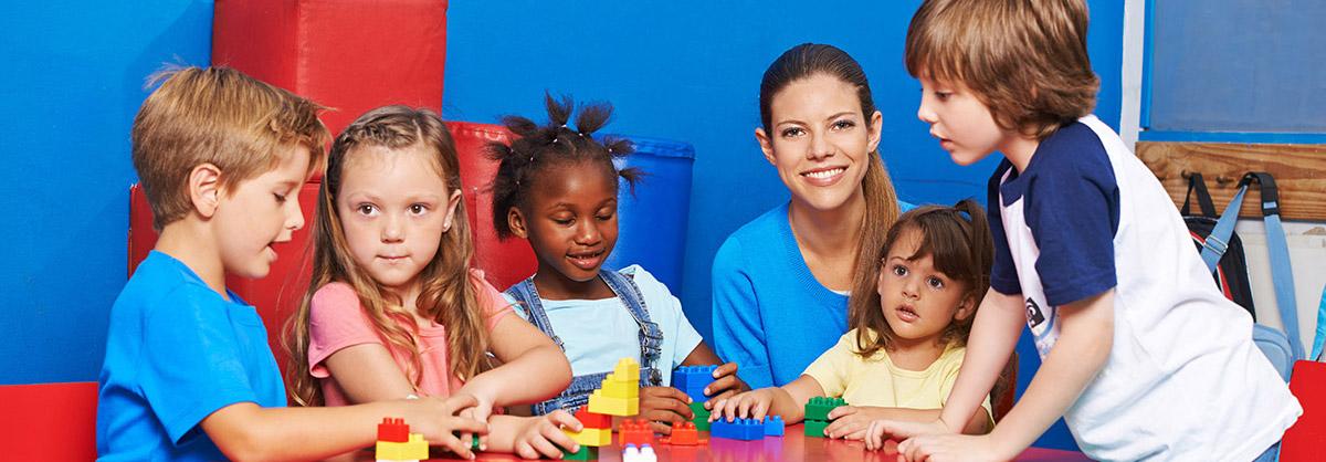 teacher with preschoo children