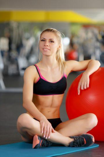 woman exercising
