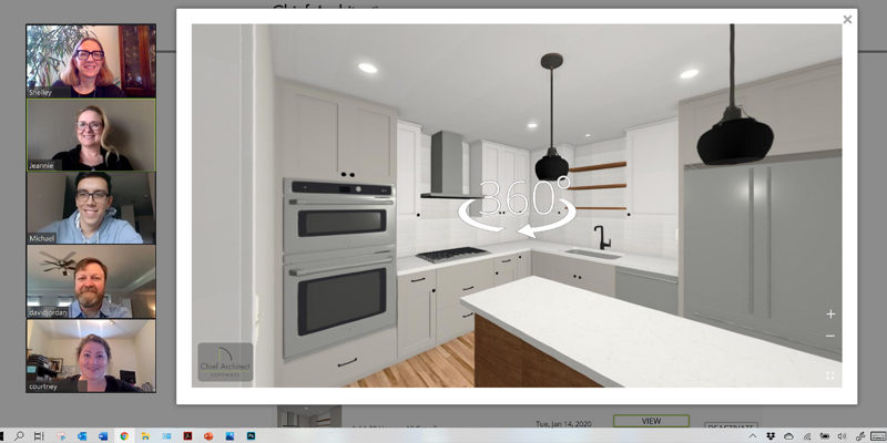 Virtual Design Meeting Kitchen Remodel Zoom