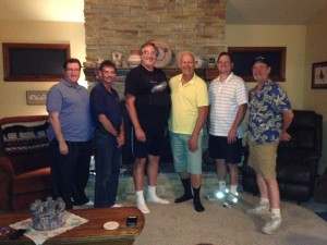 July 17, 2015 Plutopalooza (lfeft to right, Keith, Dean, Jim M., Sylvio, Phil & Dave)