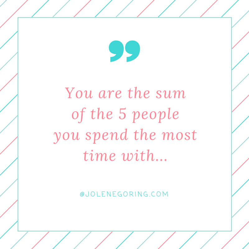 You are the sum of 5 people