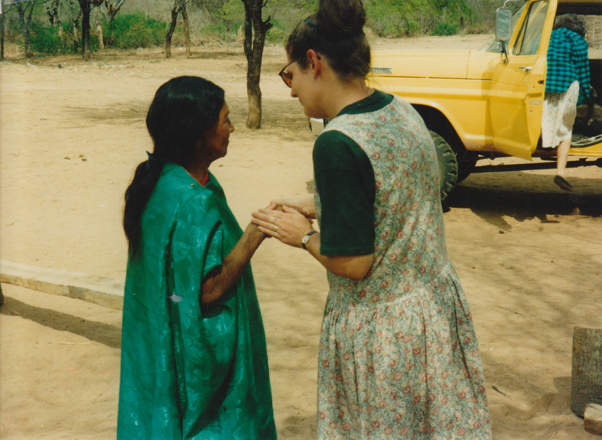 Suzie Russell with an elderly Simba woman