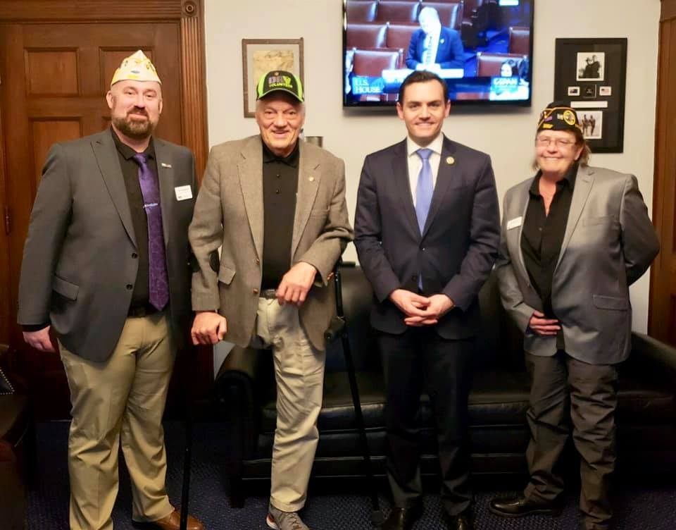 Meanwhile a second #TeamDAVWI met with Rep. Mike Gallagher