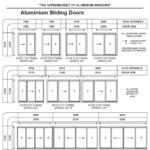 Aluminium Sliding door Size Chart