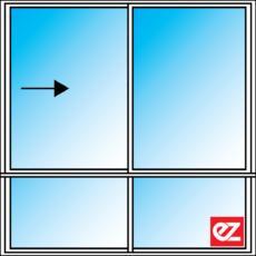 Ez Windows Sliding Window 2 Light 600T