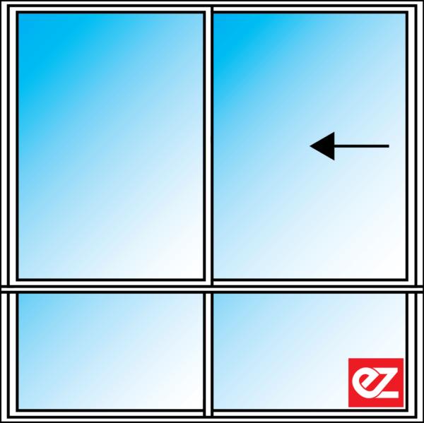 Ez Windows Sliding Window 2 Light 600T Reverse