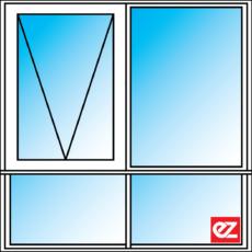 Ez Windows Awning Window 2 Light 600T