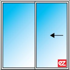 Ez Windows sliding Door 2 Panel