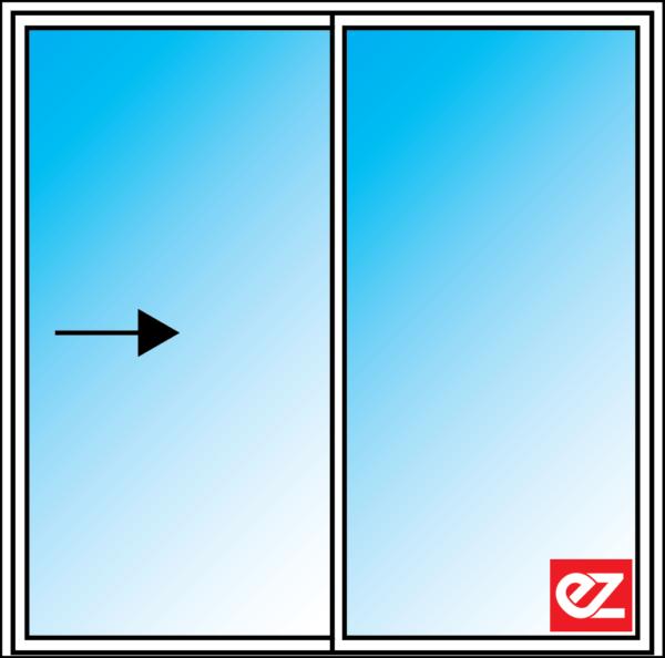 Aluminium Sliding Doors 2 Panel