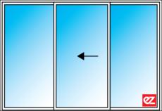 Ez Windows Sliding Door 3 Panel