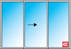 EZ Windows Sliding door 3 Light