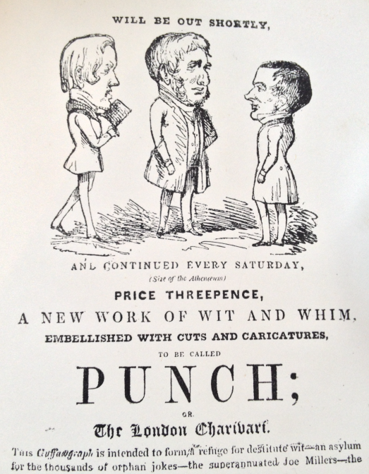 Figure 1 Promotional flyer for the launch of Punch 1841