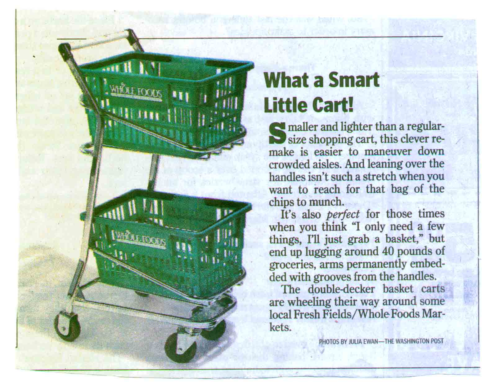 Smart Little Cart - EZcart Washington Post Article