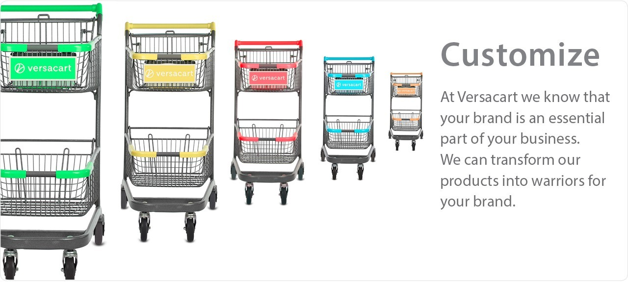 Customize your carts & baskets with custom logo and branding options