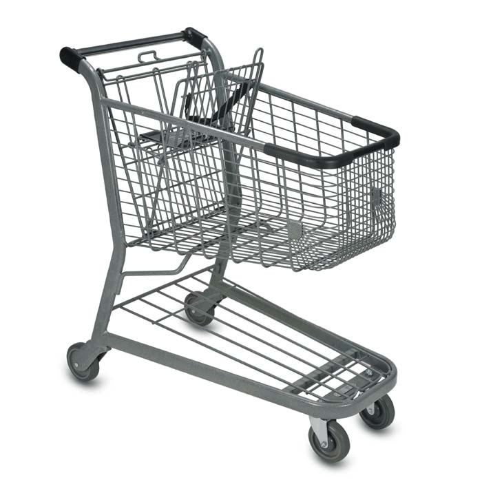 E Series 125 Liter Metal Wire Shopping Cart