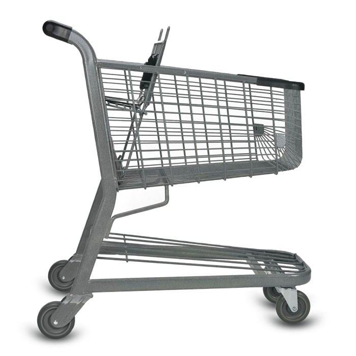 E Series 125 Liter Metal Wire Shopping Cart