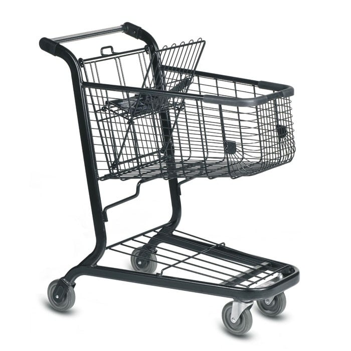 E Series 85 Liter Metal Wire Shopping Cart