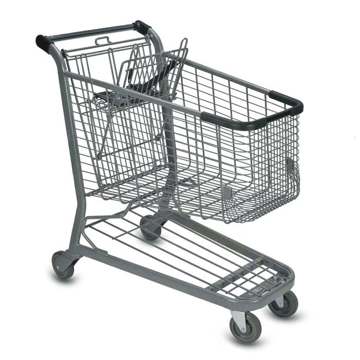 E Series 160 Liter Metal Wire Shopping Cart