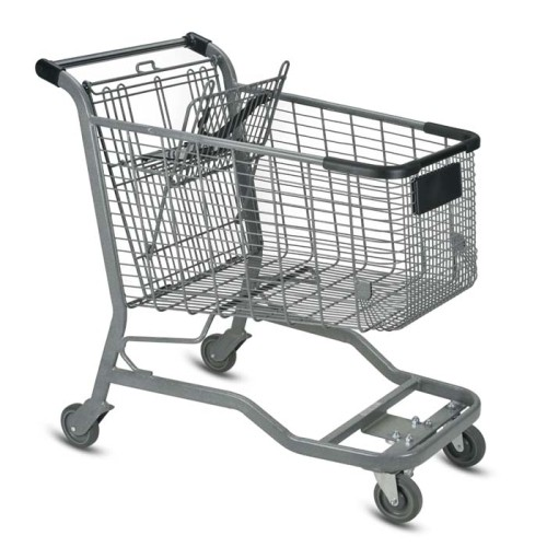 E Series 180 Liter Metal Wire Shopping Cart for Cartveyor Systems