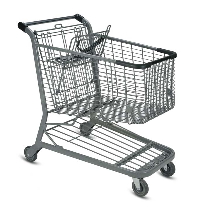 E Series 180 Liter large wire grocery shopping cart