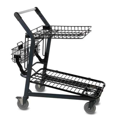 EZtote570 metal wire lawn and garden shopping cart in dark grey