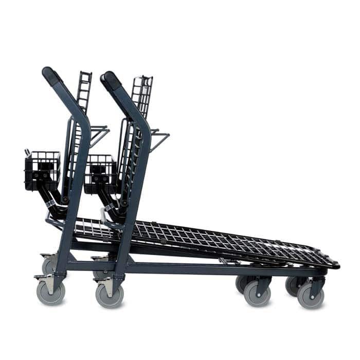 EZtote670 metal wire lawn and garden shopping cart in dark grey