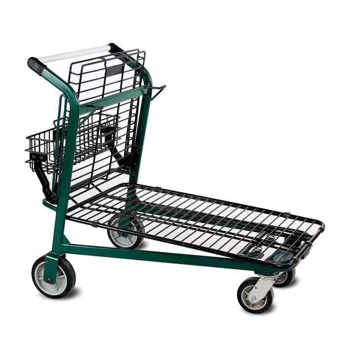 EZtote875 metal wire lawn and garden shopping cart in Dark Green/Black